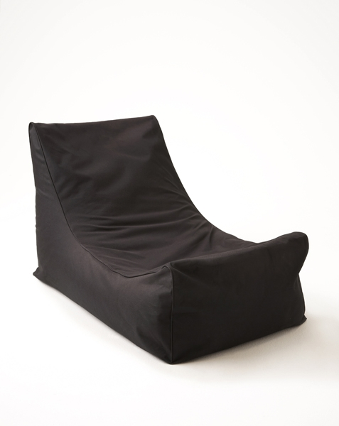 black lounger bean bag for hire
