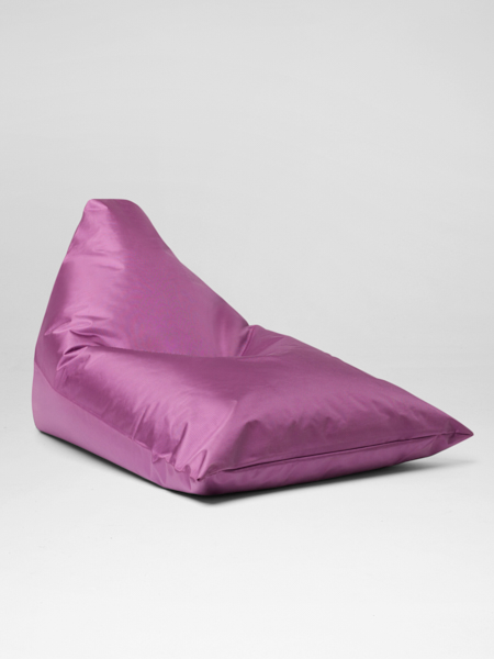 Purple bali lounger bean bag for hire