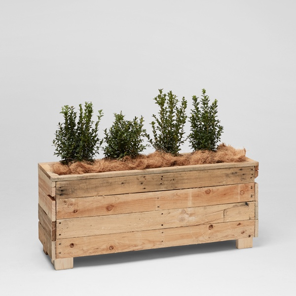 Low pallet planter box event furniture hire