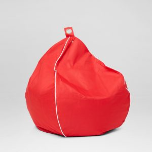 Red Nylon Outdoor Bean Bag