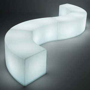 LED Arc Ottoman White curve