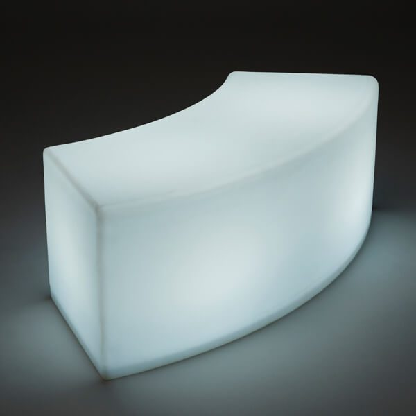 LED white Arc ottoman single
