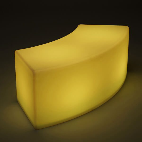 LED Arc Ottoman single yellow