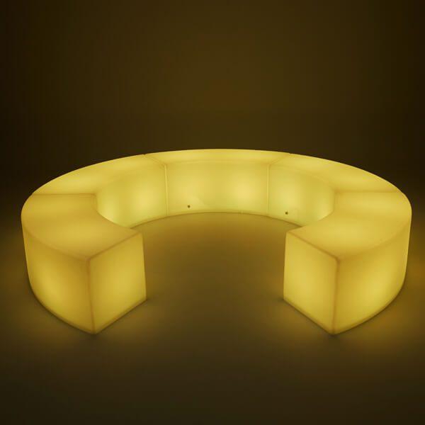 LED Arc ottoman Horseshoe yellow