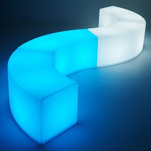 LED Arc ottoman blue and white