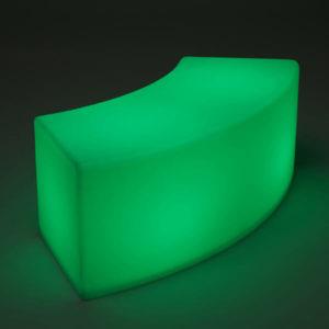 LED Arc ottoman single lime
