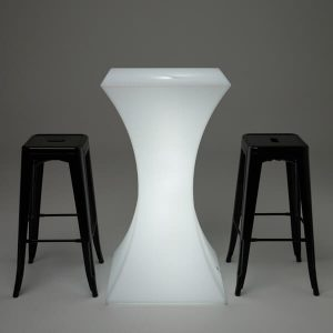 LED Bar Table with stools
