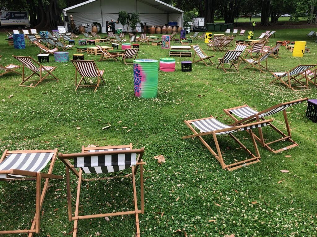 chillizone deck chairs with other furniture in Treasury Gardens