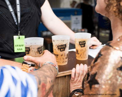 Event bar serving reusable cups