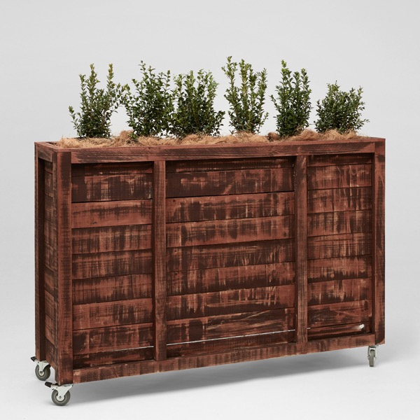 Pallet high planter box event furniture hire