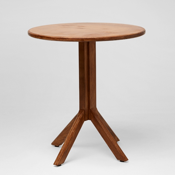 Timber cafe table event furniture hire