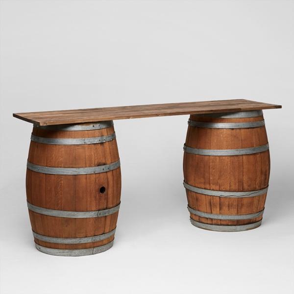 Wine barrel bar event furniture hire
